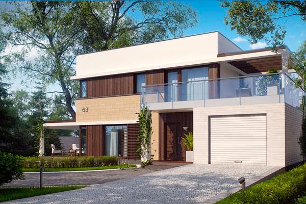 Дома в стиле модерн под ключ